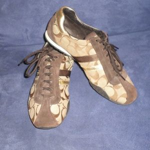 Coach Kathleen Brown Signature Sneakers Sz 7 1/2